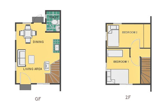 Mikaela Floor Plan House and Lot in Tanza
