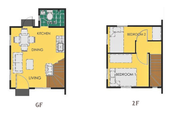 Ravena Floor Plan House and Lot in Tanza