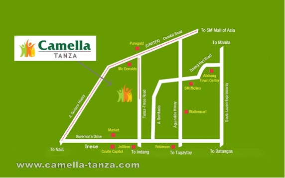 Camella Tanza Location and Amenities