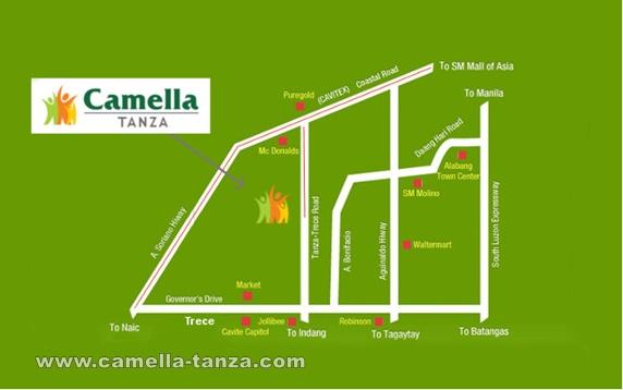 Camella Tanza Location and Amenities