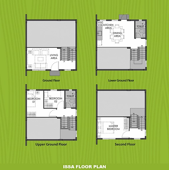 Issa Floor Plan House and Lot in Tanza