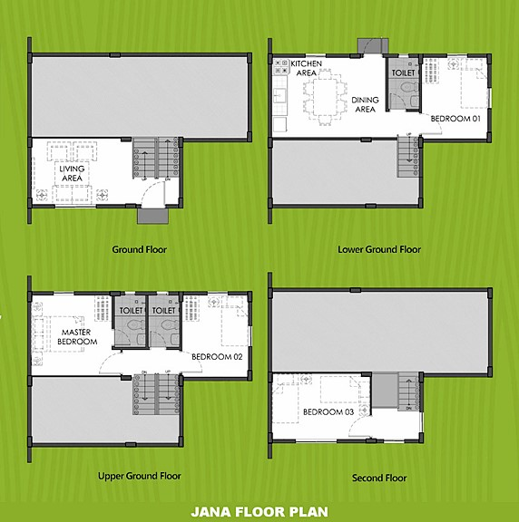 Janna Floor Plan House and Lot in Tanza