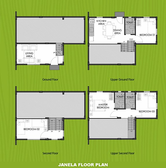 Janela Floor Plan House and Lot in Tanza