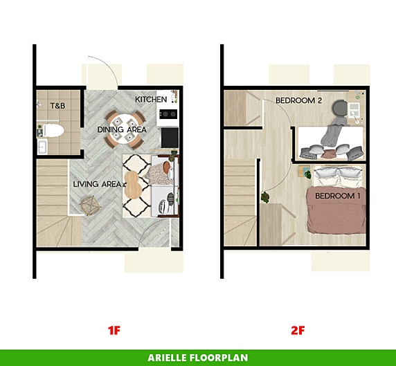Arielle Floor Plan House and Lot in Tanza