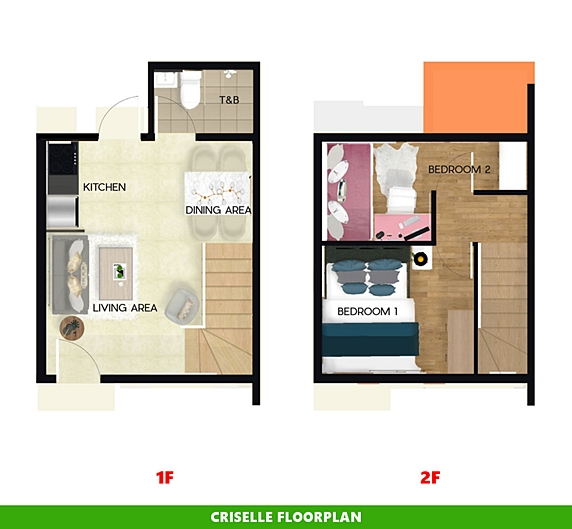 Criselle Floor Plan House and Lot in Tanza
