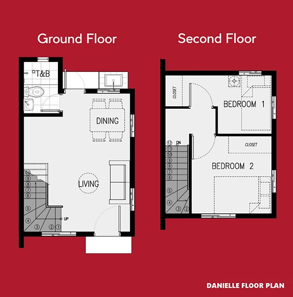 Danielle Floor Plan House and Lot in Tanza