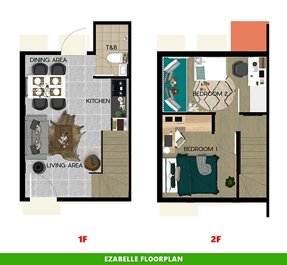 Ezabelle Floor Plan House and Lot in Tanza