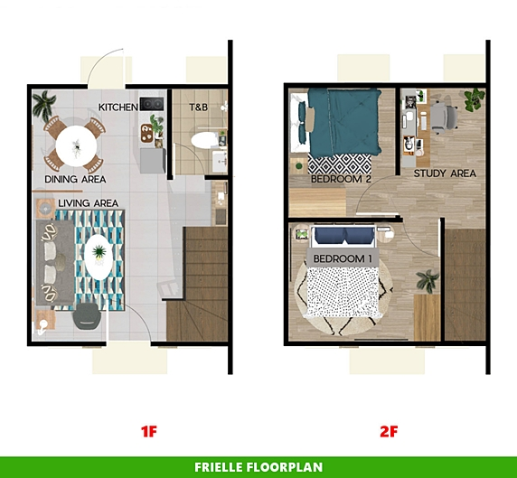 Frielle Floor Plan House and Lot in Tanza