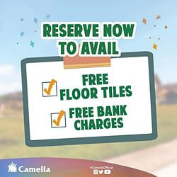 Promo for Camella Tanza.